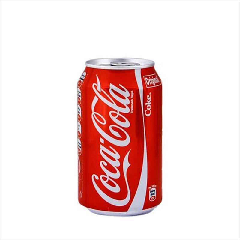 نوشابه قوطی کوکا کولا